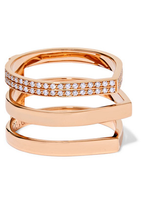Repossi - Antifer 18-karat Rose Gold Diamond Ring - 52