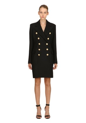 DOUBLE BREASTED CASHMERE & WOOL COAT