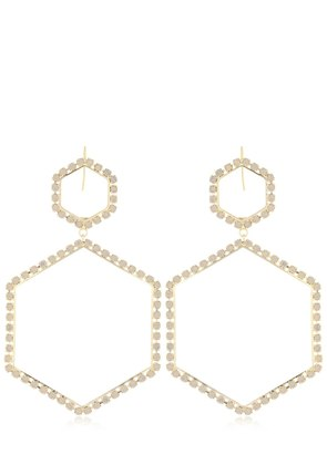 HEXAGON CRYSTAL EARRINGS