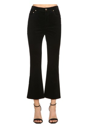 FLARED CROPPED CORDUROY PANTS