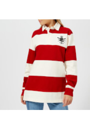 Polo Ralph Lauren Women s Patch Rugby Shirt - Red DeckWash White - XS - Red fcabcce30e