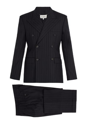Pinstripe double-breasted suit