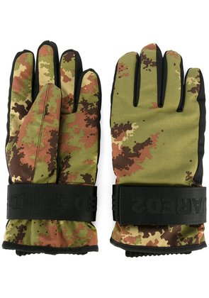 Dsquared2 Ski technical gloves - Green