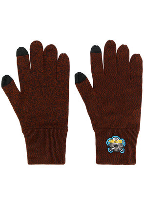 Kenzo Tiger crest gloves - Brown