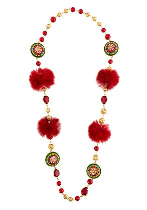 Dolce & Gabbana decorative necklace - Red