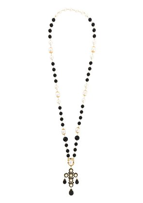 Dolce & Gabbana crystal bead lariat necklace - Black