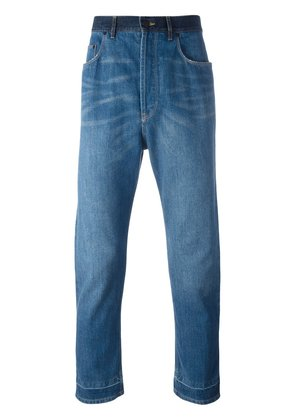Lanvin stonewashed dropped crotch jeans - Blue