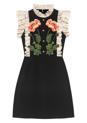 Gucci Floral embroidered wool silk dress - Unavailable