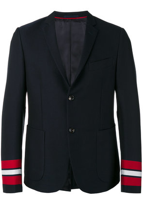 Gucci striped cuffs blazer - Blue