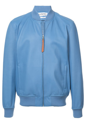 Loewe leather bomber jacket - Blue