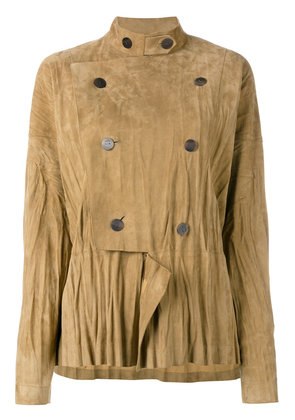 Loewe military style draped jacket - Nude & Neutrals