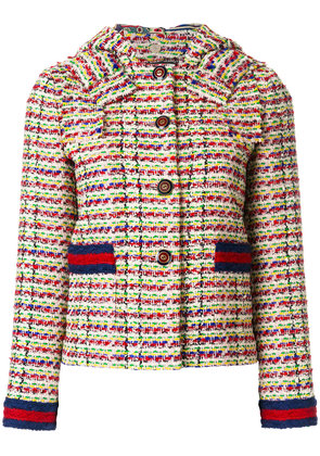 Gucci tweed jacket with Web - Multicolour