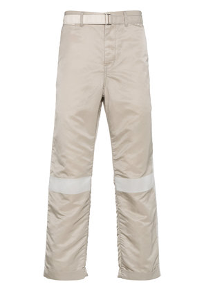 Sacai MA-1 belted trousers with stripe detailing - Nude & Neutrals