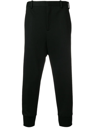 Clearance Finishline gathered ankle cropped trousers - Black Neil Barrett Enjoy Cheap Online wDbNielYM