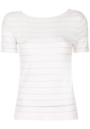 Cashmere In Love cashmere Carly lurex knitted top - White