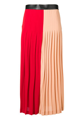 Givenchy two-tone pleated midi skirt - Red