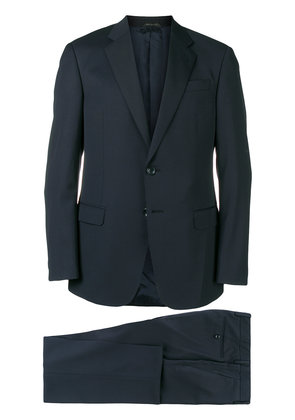 Giorgio Armani two piece fitted suit - Blue