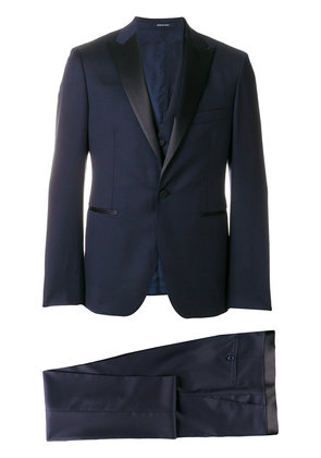 Tagliatore three piece slim fit suit - Blue