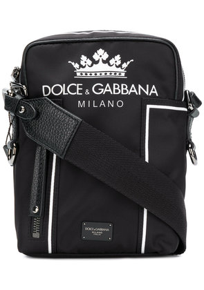 Dolce & Gabbana logo shoulder bag - Black