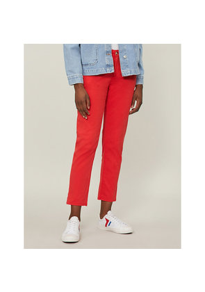The Caden mid-rise skinny cotton-blend trousers