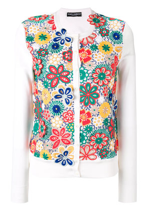 Dolce & Gabbana floral crochet cardigan - White