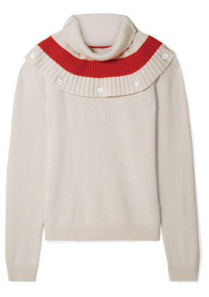Tomas Maier - Convertible Striped Cashmere Sweater - Cream
