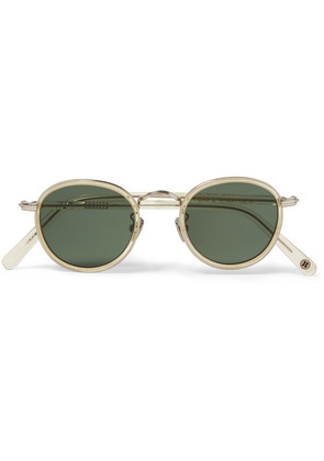 Gifford Round-frame Acetate And Silver-tone Sunglasses