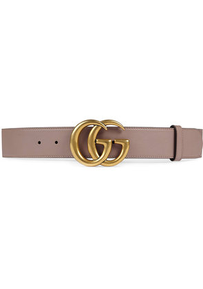 Gucci Leather belt with Double G buckle - Pink & Purple