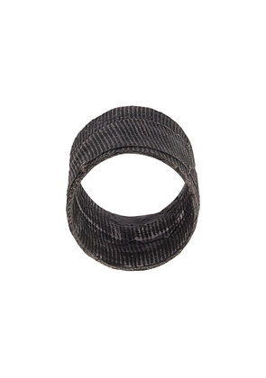 Detaj textured ring - Black