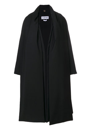 Loewe oversized flared coat - Black