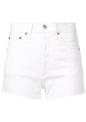 Re/Done Solid Striped x Re/Done high waisted shorts - White
