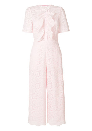 Temperley London Lunar lace-detail jumpsuit - Pink & Purple