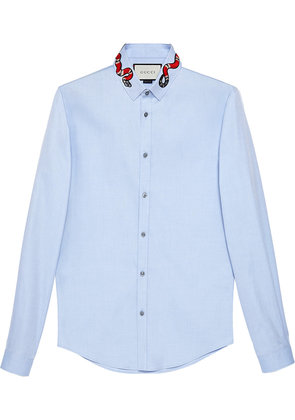 Gucci Oxford Duke shirt with snake - Blue