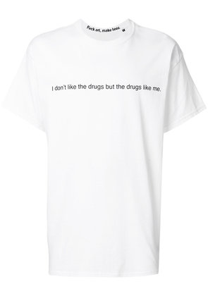 F.A.M.T. I Don't Like The Drugs T-shirt - White