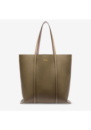 Bally Rodeo Brown, Women's split bovine leather tote bag in caki and cipria