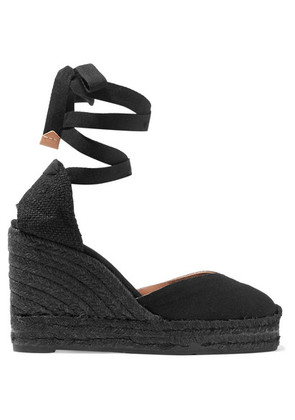 Castañer - Chiara Canvas Wedge Espadrilles - Black