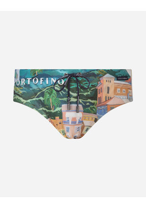 Dolce & Gabbana Beachwear - PRINTED SWIM BRIEFS MULTICOLOR