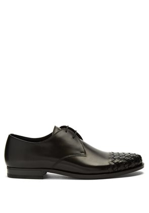 Intrecciato toecap leather derby shoes