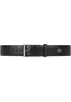 Gucci Gucci Signature belt with GG detail - Black