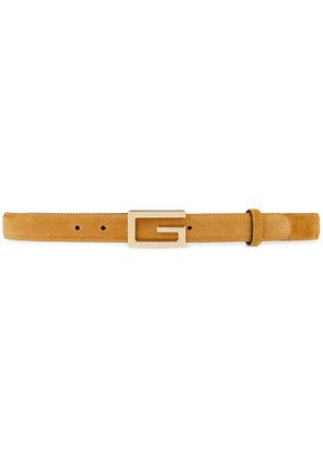 Gucci Suede belt with G buckle - Nude & Neutrals