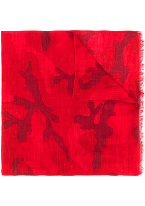 Valentino printed scarf - Red