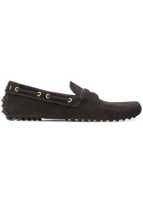 Car Shoe classic slip-on loafers - Brown