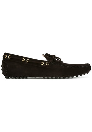 Car Shoe gold-tone trim loafers - Brown