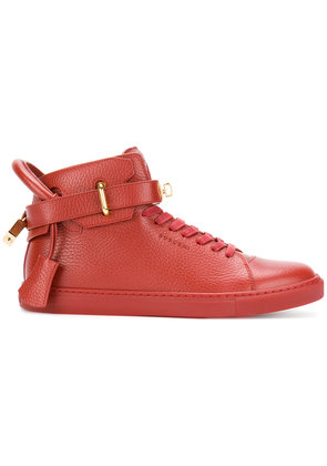 Buscemi buckled hi-top sneakers - Red