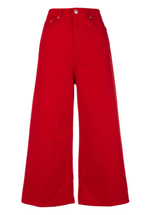 MSGM cropped wide-leg jeans - Red