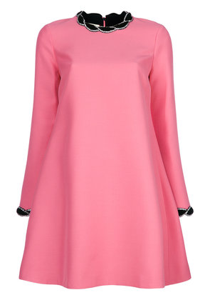 Gucci velvet trim dress - Pink & Purple