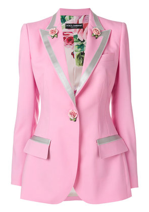 Dolce & Gabbana single-breasted rose blazer - Pink & Purple