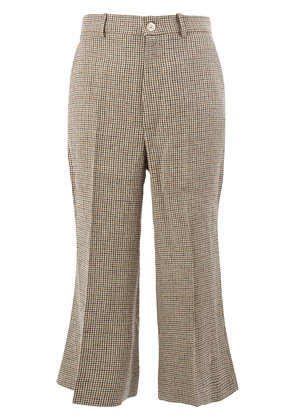 Gucci cropped houndstooth trousers - Multicolour
