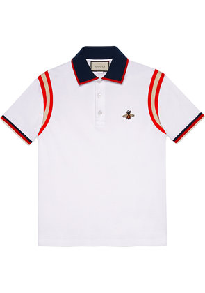 Gucci Cotton polo with bee - White
