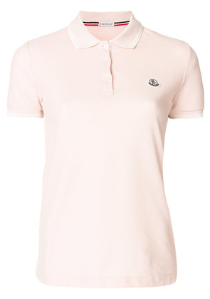 Moncler logo crest polo shirt - Pink & Purple